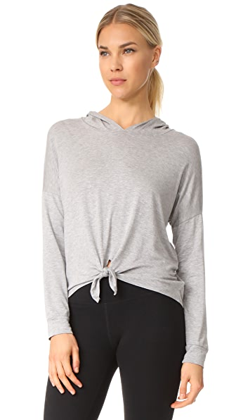 Beyond Yoga All Tied Up Hoodie - Light Heather Grey