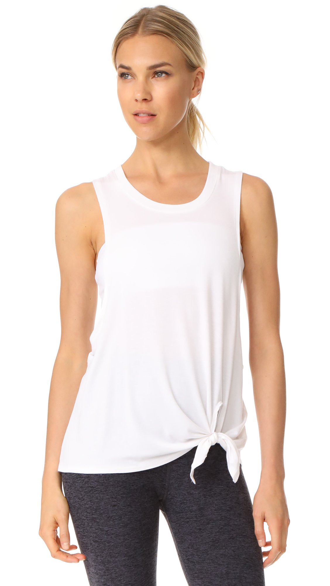 Beyond Yoga All Tied Up Racerback Tank - White
