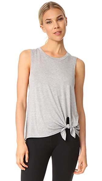 Beyond Yoga All Tied Up Racerback Tank In Light Heather Grey