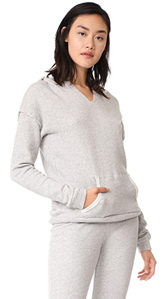 Beyond Yoga Every Afternoon Hoodie - Light Heather Grey