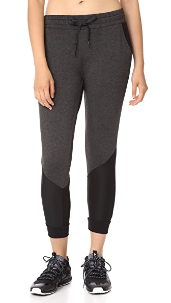 Beyond Yoga Easy Rider Moto Sweatpants - Charcoal Heather Grey