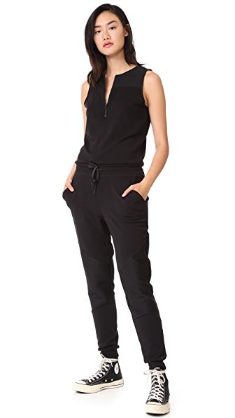 Beyond Yoga Easy Rider Moto Jumper In Black