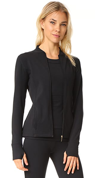 Beyond Yoga x Kate Spade New York Madison Bow Jacket - Jet Black