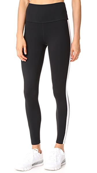 Beyond Yoga xKate Spade New York Madison Tuxedo Leggings - Jet Black