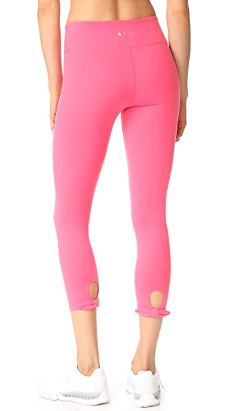 Beyond Yoga x Kate Spade New York Leaf Bow Capri Leggings - Pink Swirl