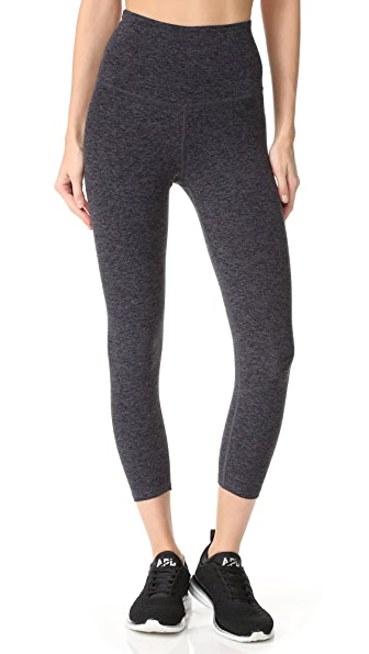 Beyond Yoga High Waist Capri Leggings - Black/Steel