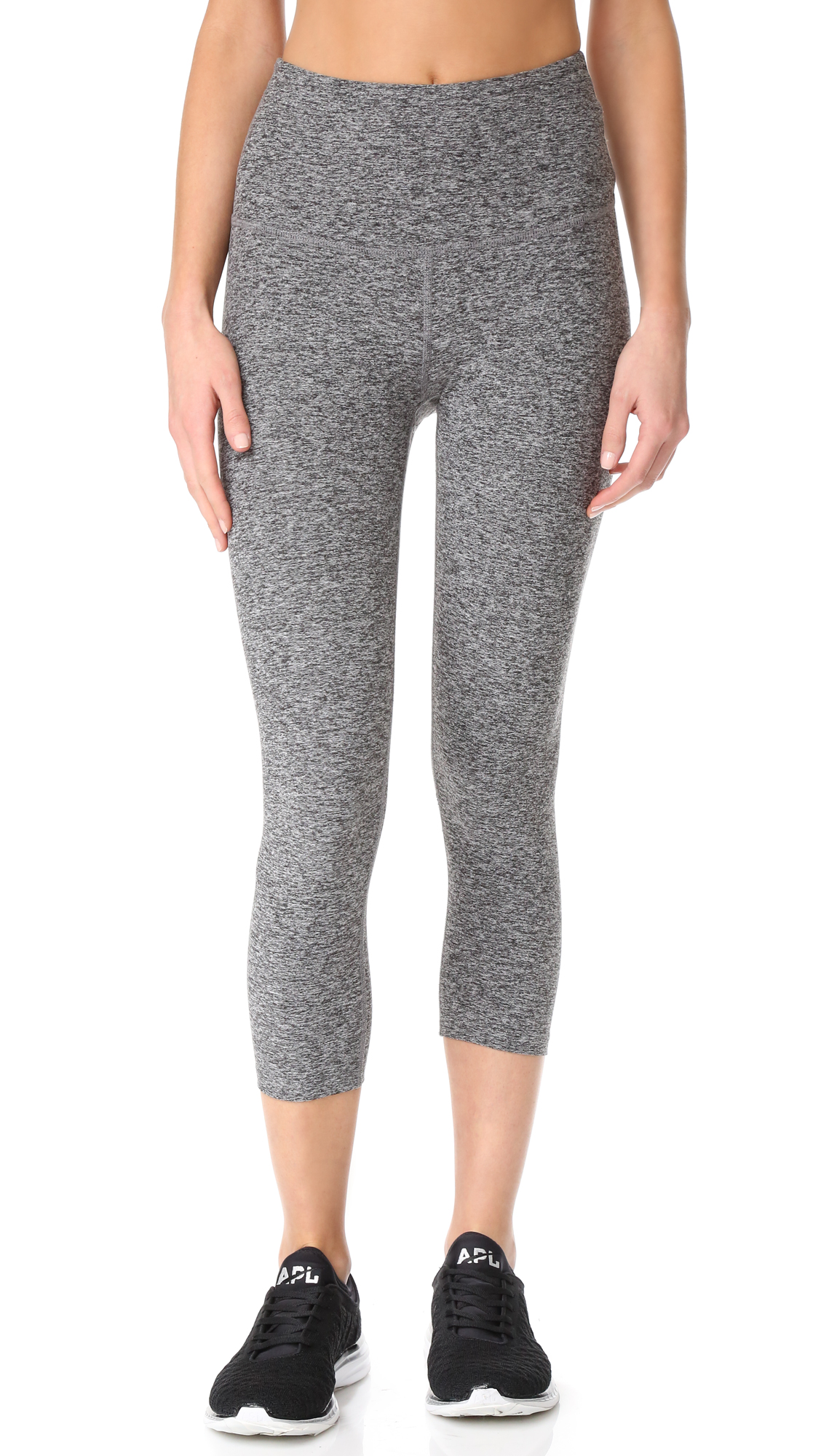 Beyond Yoga High Waist Capri Leggings In Black/White