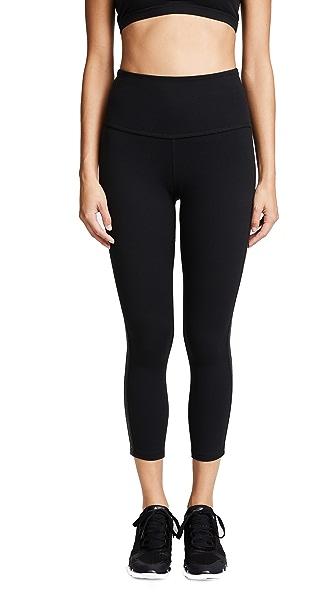 Beyond Yoga Fit & Trim Midi Leggings In Jet Black