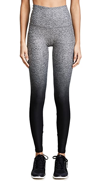 Beyond Yoga Ombre Leggings In Black Ombre