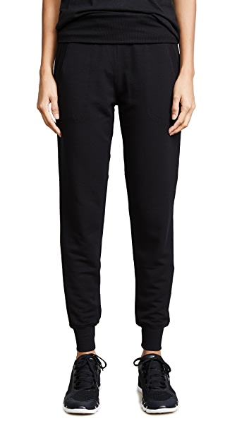 Cozy Fleece Foldover Sweatpant in Black