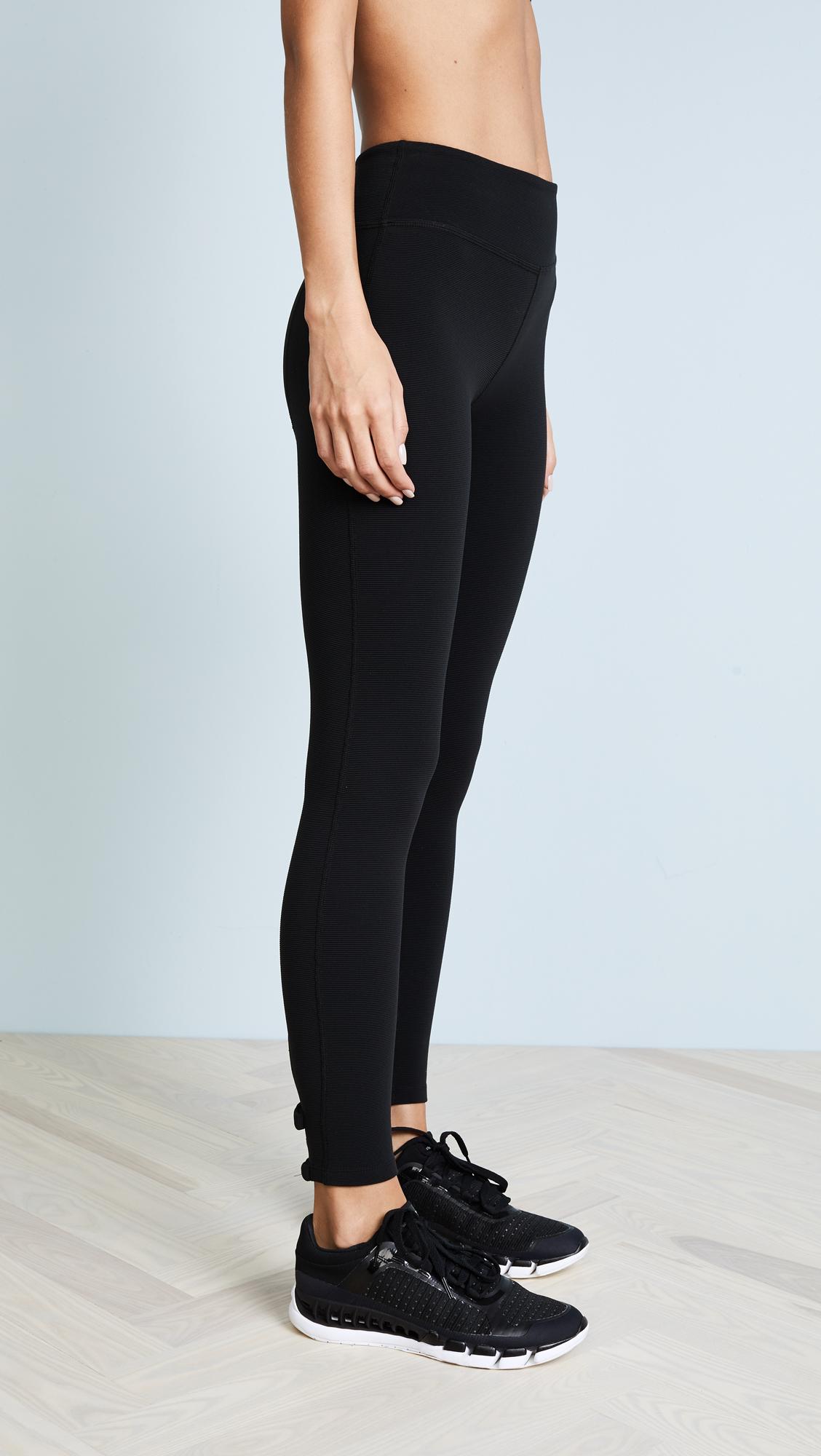 4aca0586048444 Beyond Yoga x Kate Spade New York Back Bow Midi Leggings   SHOPBOP