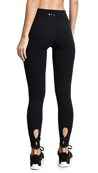 Beyond Yoga x Kate Spade New York Back Bow Midi Leggings In Black Ottoman