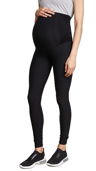 Quilt Texture Maternity Leggings