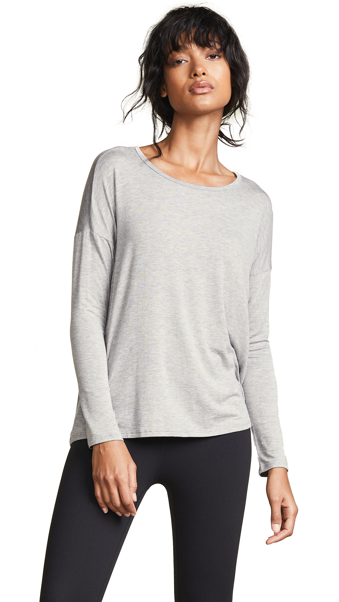Draw The Line Tie Back Pullover, Light Heather Gray