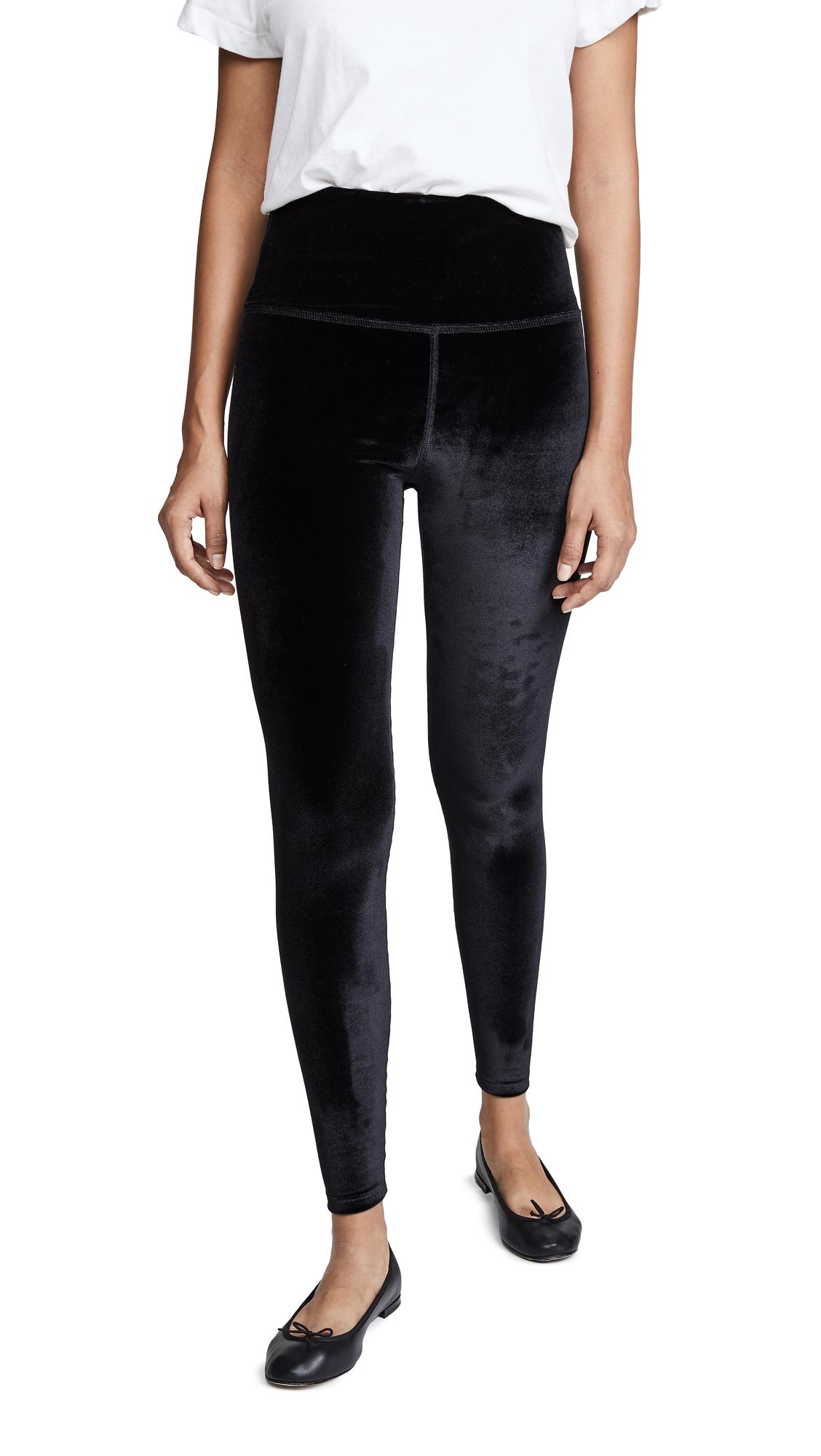 BEYOND YOGA Velvet Motion High Waisted Midi Legging in Black