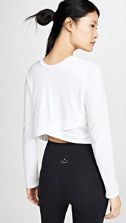 Beyond Yoga Back Out Cropped Pullover