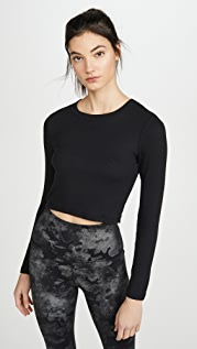 Beyond Yoga Keep In Line Cropped Pullover
