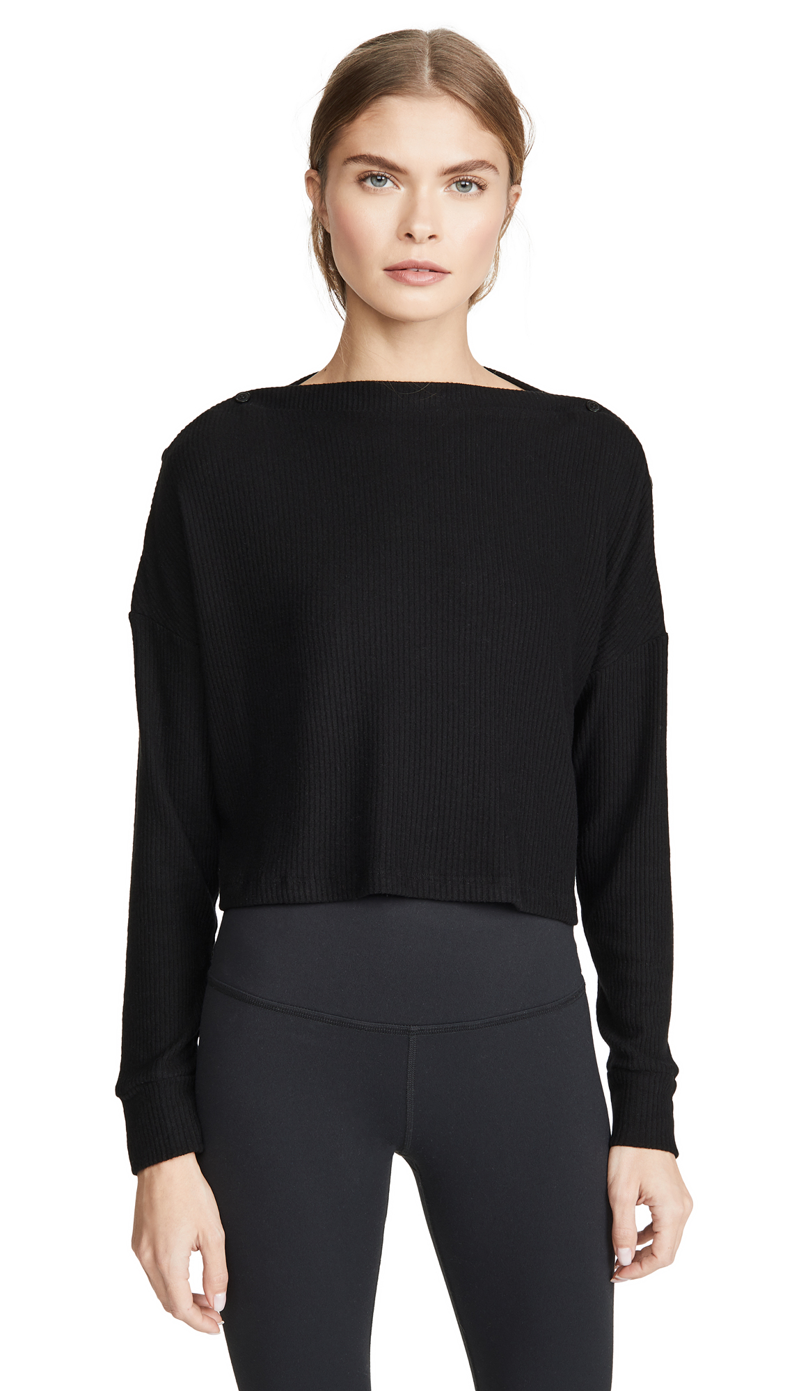 Buy Beyond Yoga online - photo of Beyond Yoga Your Line Buttoned Boxy Pullover