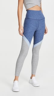 Beyond Yoga Tri Panel High Waisted Midi Leggings