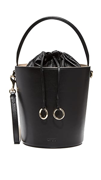 Cafune Basket Bucket Bag - Black