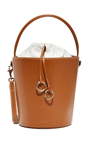 Cafune Basket Bucket Bag - Chestnut