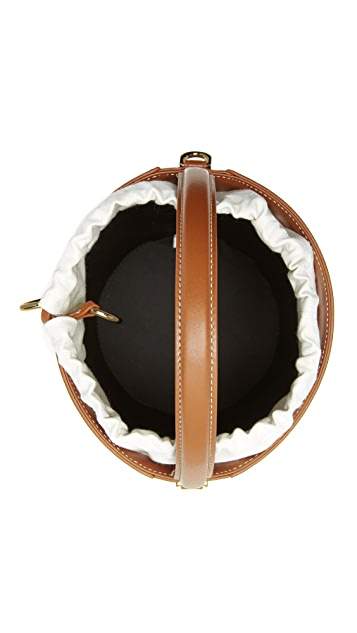 Cafune Сумка-ведро с текстурой «рогожка»