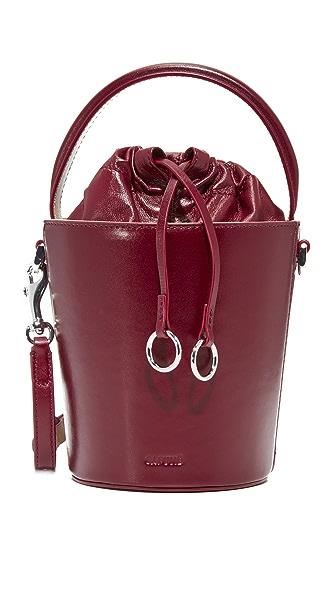 Cafune Mini Basket Bucket Bag - Oxblood
