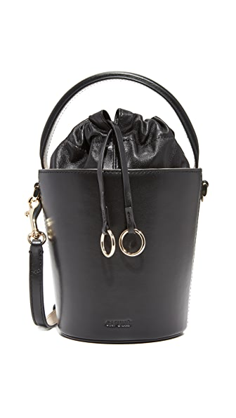 Cafune Mini Basket Bucket Bag - Black