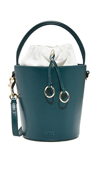Cafune Mini Basket Bucket Bag - Peacock