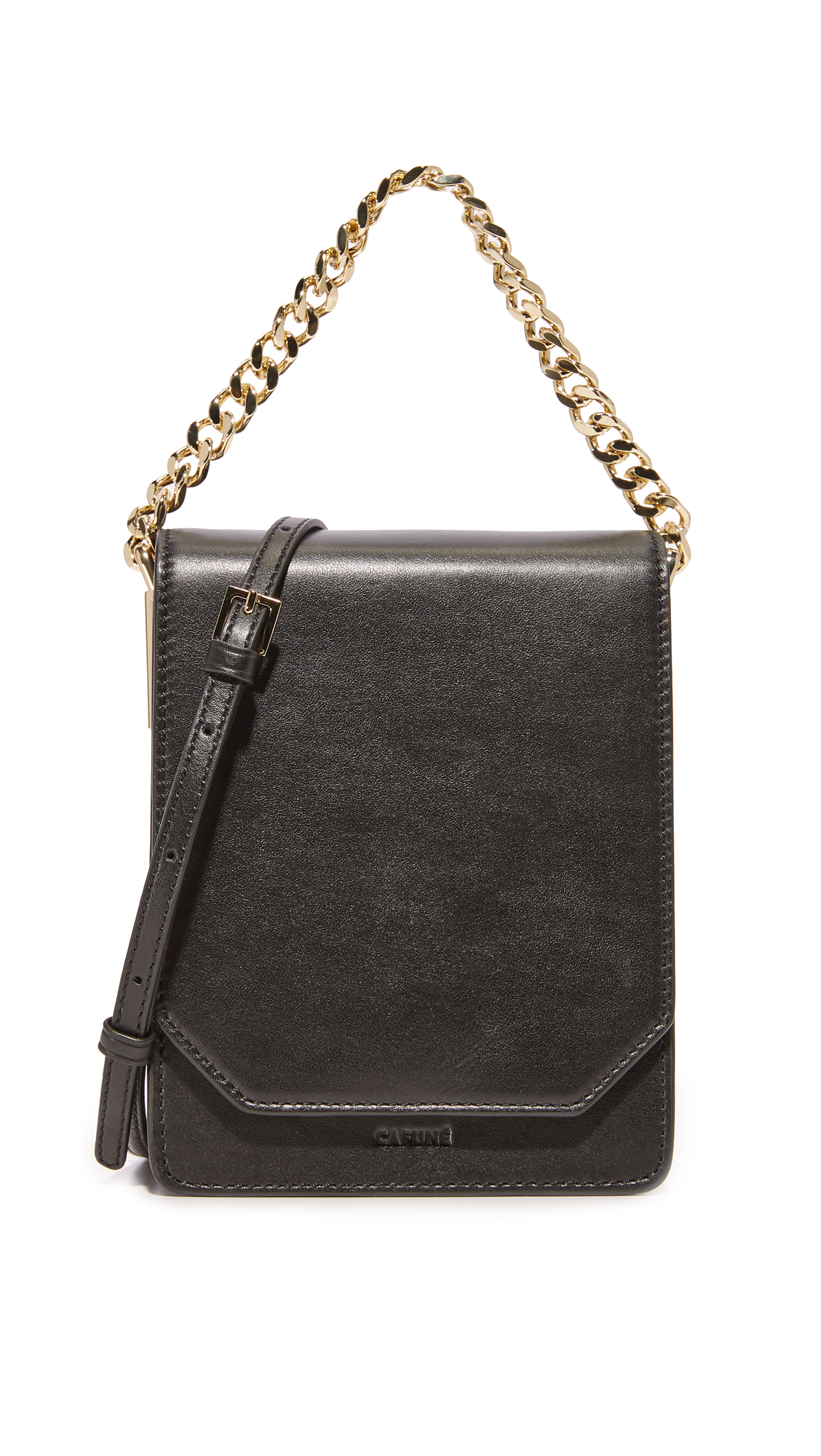 Cafune Bellows Cross Body Bag In Black