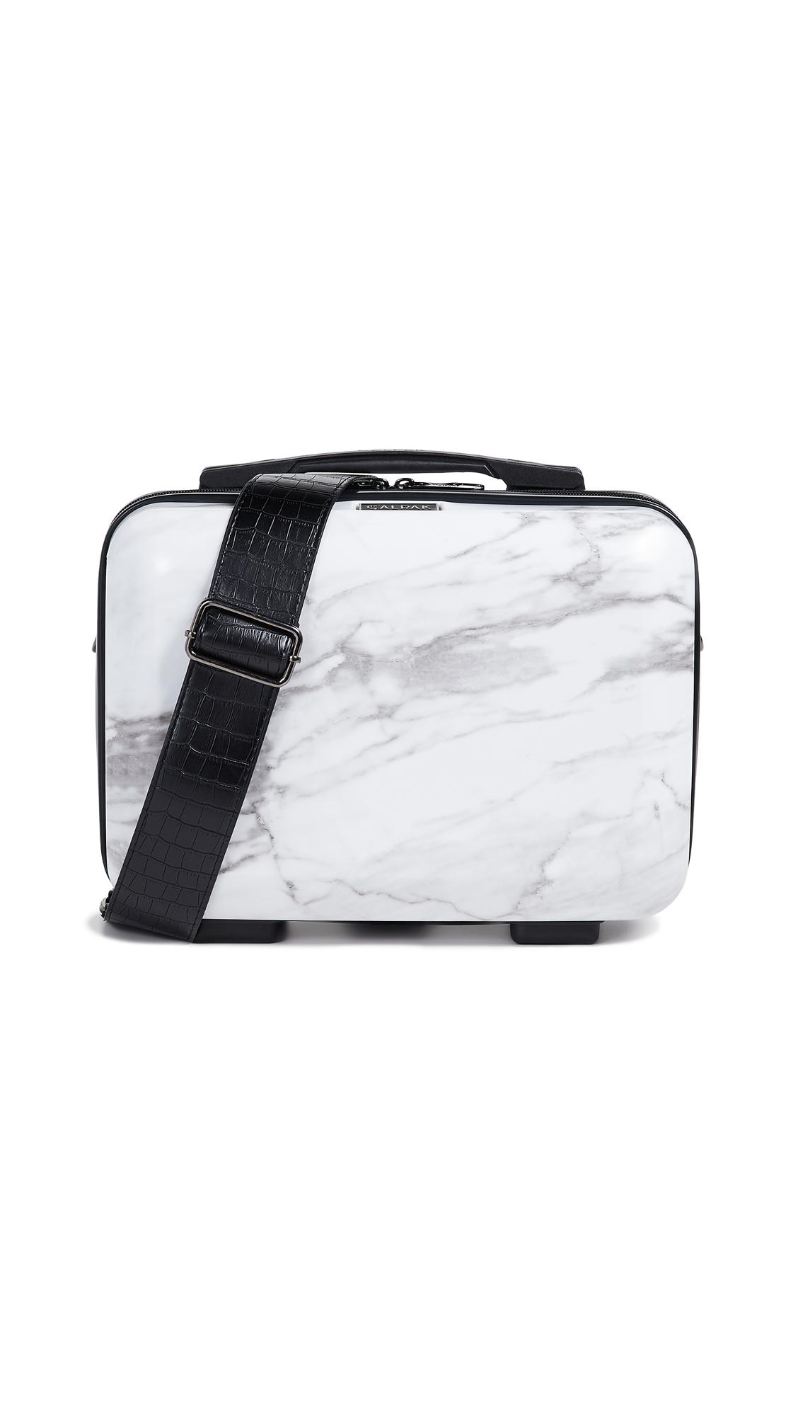 Astyll Marbled Hardshell Vanity Suitcase in White