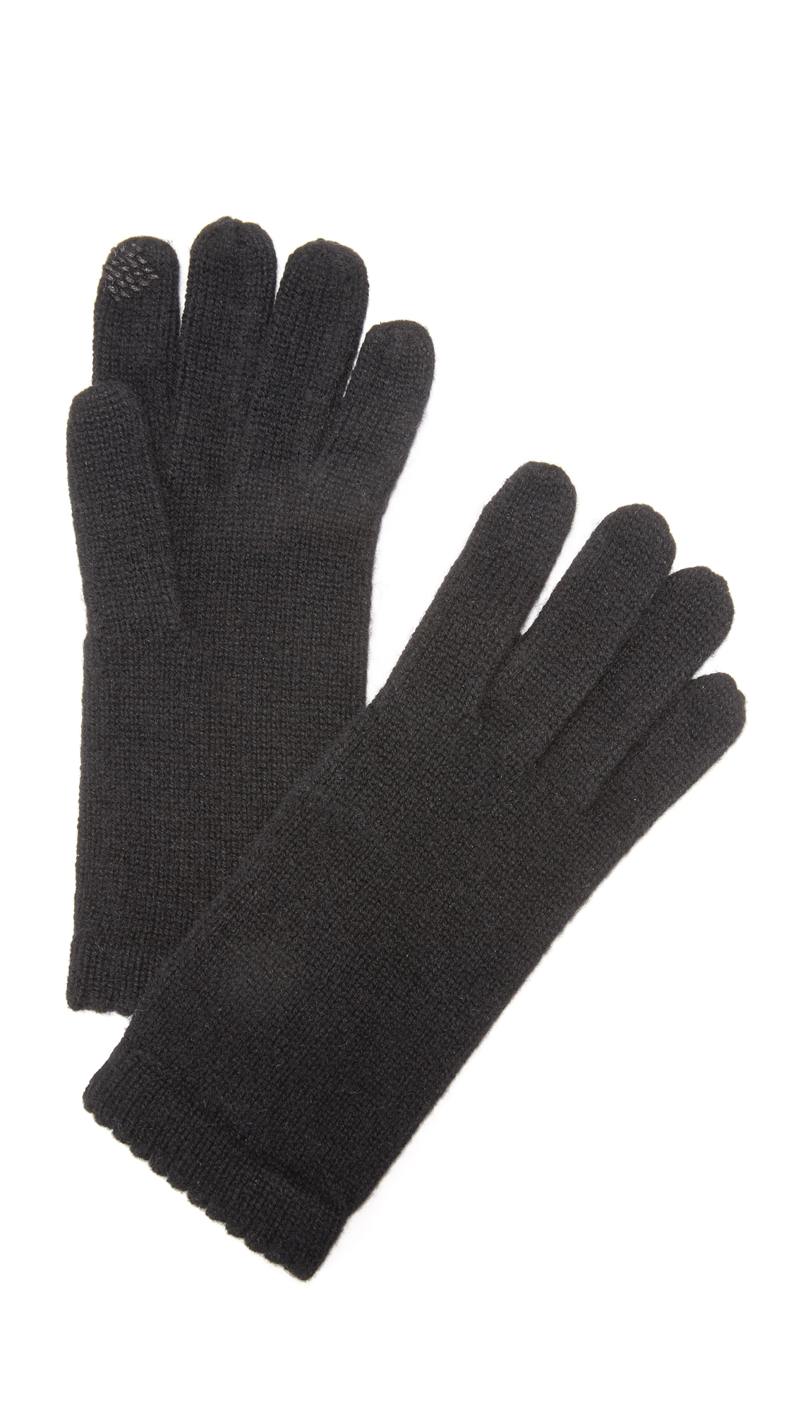 Carolina Amato Texting Gloves - Black