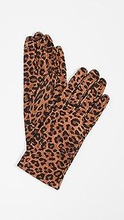 Carolina Amato Перчатки с леопардовым принтом