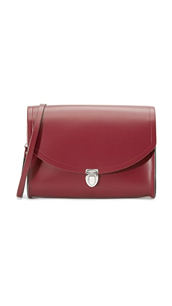 Cambridge Satchel Large Push Lock Bag - Oxblood