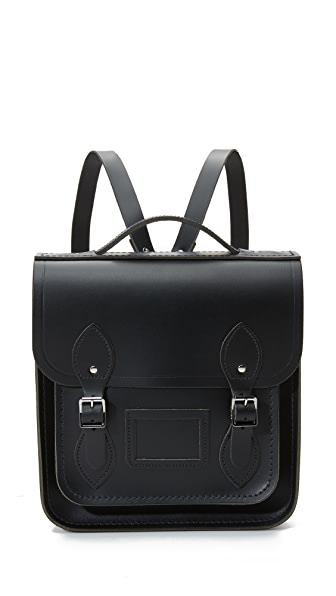 Cambridge Satchel Small Portrait Backpack - Black