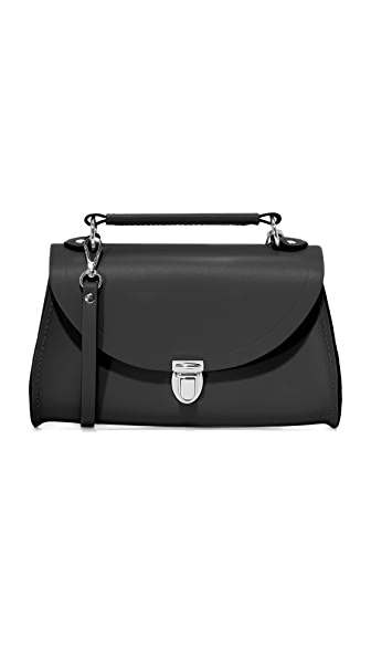 Cambridge Satchel Mini Poppy Cross Body Bag - Black