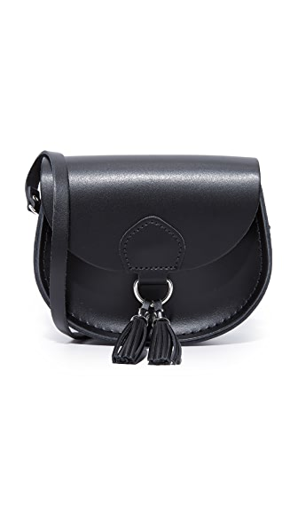 Cambridge Satchel Mini Tassel Saddle Bag - Black