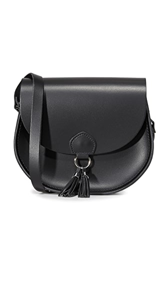 Cambridge Satchel Tassel Saddle Bag - Black