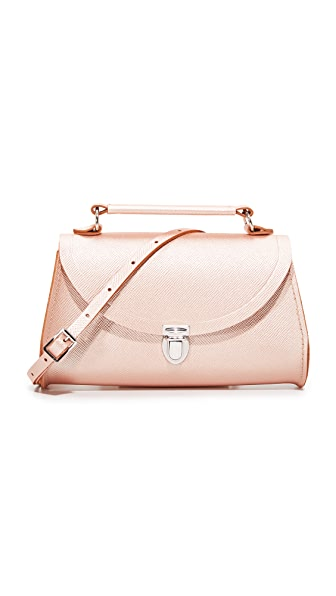 Cambridge Satchel Mini Poppy Top Handle Bag - Rose Gold