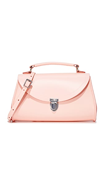 Cambridge Satchel Mini Poppy Top Handle Bag - Seashell Pink