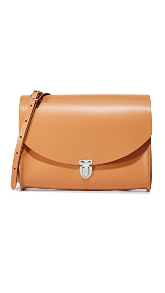 Cambridge Satchel Large Push Lock Bag - Ochre