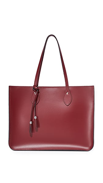Cambridge Satchel Tassel Tote - Oxblood