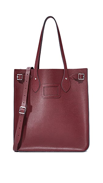 Cambridge Satchel North South Tote - Oxblood