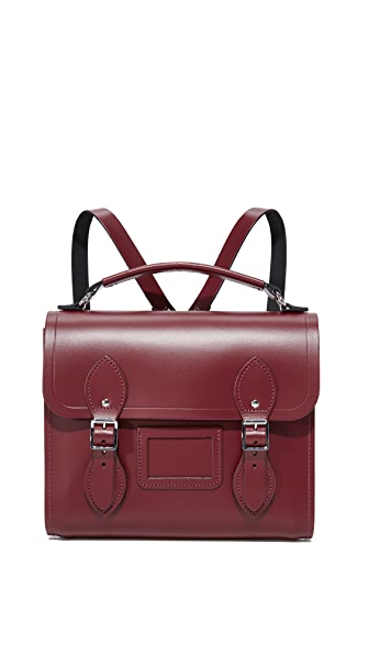 Cambridge Satchel Barrel Backpack In Oxblood