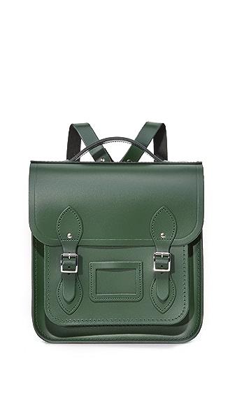 Cambridge Satchel Small Portrait Backpack In Green