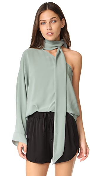 C/Meo Collective Everlasting One Shoulder Top - Seafoam