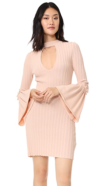 C/Meo Collective Mind Reader Knit Dress In Shell