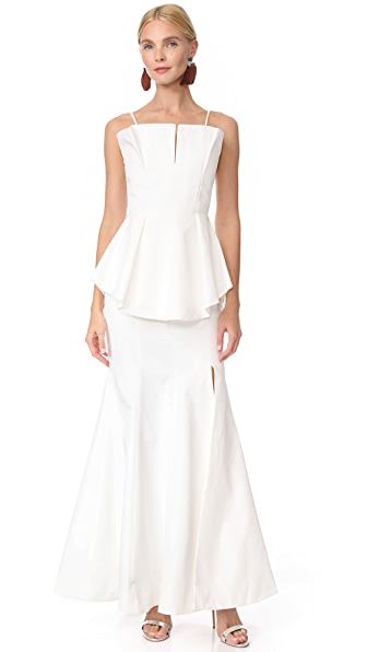 C/Meo Collective Conduit Full Length Dress In Ivory