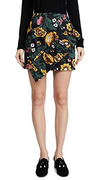 C/Meo Collective Another Lover Skirt In Black Floral