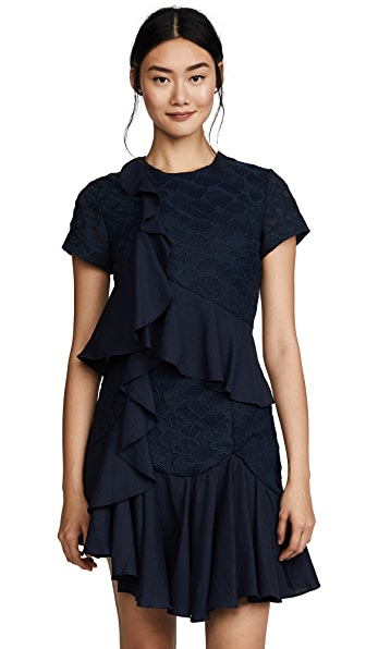 C/Meo Collective Phase Short Sleeve Dress In Navy